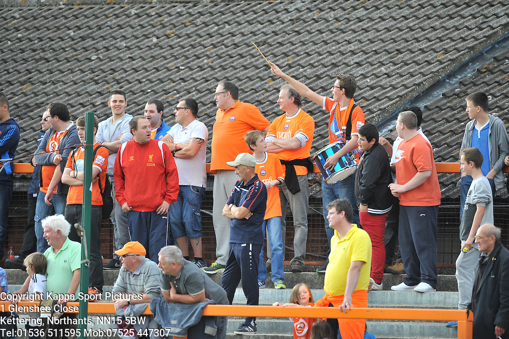 Braintree Fans Drummer, Braintree Town v Barrow AFC, Avanti Stadium Braintree, Vanarama National League, Saturday, 12th September 2015.