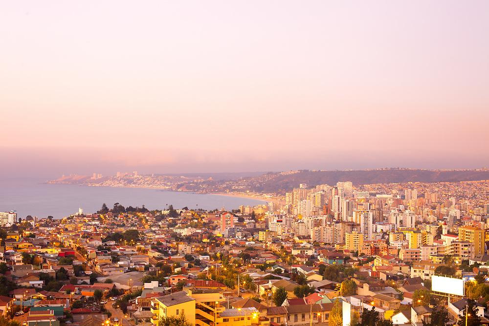 Panoramic view of Viña del Mar, V Region of Valparaiso, Chile