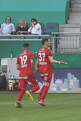 25.05.2019, Allianz Stadion, Wien, AUT, 1. FBL, SK Rapid Wien vs Cashpoint SCR Altach, Qualifikationsgruppe, 32. Spieltag, im Bild 0:1 durch Mergim Berisha (SCR Altach) // during the tipico Bundesliga qualification group 32nd round match between SK Rapid Wien and Cashpoint SCR Altach at the Allianz Stadion in Wien, Austria on 2019/05/25. EXPA Pictures © 2019, PhotoCredit: EXPA/ Lukas Huter