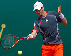 20.04.2012, Country Club, Monte Carlo, MON, ATP World Tour, Rolex Masters, Viertelfinale, im Bild Andy Murray (GBR) in action during the quarter final singles match between Andy Murray (GBR) and Tomas Berdych (CZE) // during Rolex Masters tennis tournament quarter Final of ATP World Tour at Country Club, Monte Carlo, Monaco on 2012/04/20. EXPA Pictures © 2012, PhotoCredit: EXPA/ Mitchell Gunn