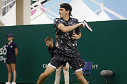 Jubb (GBR) Loses to Fritz (USA) at the Nature Valley International Eastbourne 2019, at Devonshire Park, Eastbourne, United Kingdom on 24th June 2019, Picture by Jonathan Dunville