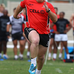 DURBAN, SOUTH AFRICA Monday 29th June 2015 - Lourens Adriaanse during the Cell C Sharks Conditioning training session at Growthpoint Kings Par in Durban, South Africa. (Photo by Steve Haag)