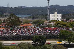 November 12, 2017 - Sao Paulo, Brazil - Motorsports: FIA Formula One World Championship 2017, Grand Prix of Brazil, .#5 Sebastian Vettel (GER, Scuderia Ferrari), #77 Valtteri Bottas (FIN, Mercedes AMG Petronas F1 Team), #7 Kimi Raikkonen (FIN, Scuderia Ferrari) (Credit Image: © Hoch Zwei via ZUMA Wire)