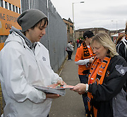 Buying the programme - Dundee United v Hearts, Clydesdale Bank Scottish Premier League at Tannadice Park..© David Young Photo.5 Foundry Place.Monifieth.Angus.DD5 4BB.Tel: 07765252616.email: davidyoungphoto@gmail.com.http://www.davidyoungphoto.co.uk