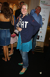 MISS LAURA PARKER BOWLES at a party to celebrate 'Made in Italy at Harrods' - a celebration of Italian fashion food and wine, design and interiors, art and photography, cinema and music, beauty and glamour.  The party was held in the Georgian Restaurant at Harrods, Knightsbridge, London on 9th September 2004.<br /><br />PICTURES LICENCED UNTIL 9/3/2004 FOR USE TO PROMOTE THE 'MADE IN ITALY' EVENT/S ONLY.