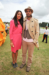 Singer & songwriter V V BROWN and friend NFA at the 2009 Veuve Clicquot Gold Cup Polo final at Cowdray Park Polo Club, Midhurst, West Sussex on 19th July 2009.