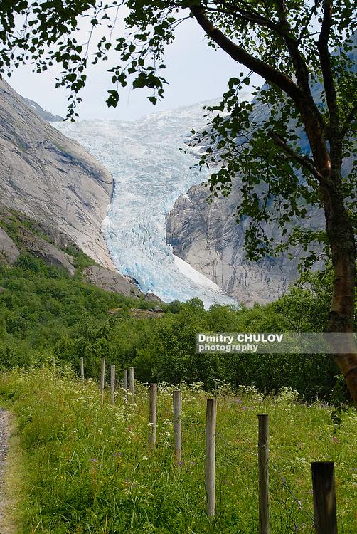 Jostedalsbreen glacier, the biggest glacier in continental Europe in Sogn og Fjordane county, Norway.
