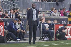 April 14, 2017 - Chester, PA, United States of America - New York City FC Manager PATRICK VIEIRA watches the game from the sidelines in the first half of a Major League Soccer match between the Philadelphia Union and New York City FC Friday, Apr. 17, 2016 at Talen Energy Stadium in Chester, PA. (Credit Image: © Saquan Stimpson via ZUMA Wire)