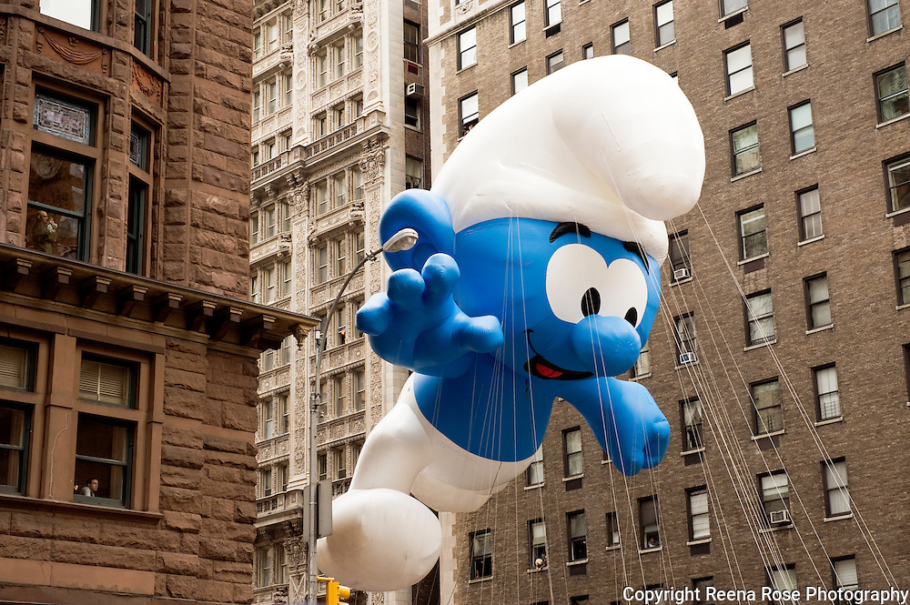 Smurf Balloon in the Macy's Thanksgiving Parade<br /> New York City, NY