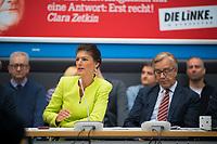 DEU, Deutschland, Germany, Berlin, 12.03.2019: Die beiden Vorsitzenden der Bundestagsfraktion von DIE LINKE, Dr. Sahra Wagenknecht und Dr. Dietmar Bartsch, bei einer Fraktionssitzung von DIE LINKE im Deutschen Bundestag.