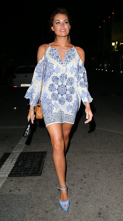 TOWIE star Jessica Wright enjoys a night out at the Pangea club in Puerto Banus, Marbella, Spain. 31/05/2015<br />