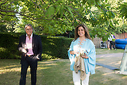 HOSSEIN AMIRSADEGHI; MARYAM HOMAYOUN EISLER, , Serpentine's Summer party co-hosted with Christopher Kane. 15th Serpentine Pavilion designed by Spanish architects Selgascano. Kensington Gardens. London. 2 July 2015.