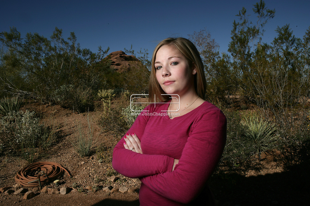 3rd December 2007, Phoenix, Arizona. 20-year-old Megan Sowersby who's friend Sarah Johnson was convicted of murdering her own parents in 2003..PHOTO © JOHN CHAPPLE / REBEL IMAGES.john@chapple.biz   www.chapple.biz