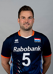 14-05-2018 NED: Team shoot Dutch volleyball team men, Arnhem<br /> Dirk Sparidans #5 of Netherlands