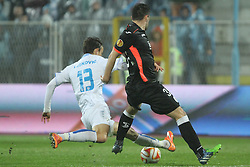 27.11.2014, Stadium Kantrida, Rijeka, CRO, UEFA EL, HNK Rijeka vs FC Standard Liege, Gruppe G, im Bild Marko Leksovic, Tony Watt // during the UEFA Europa Lduring the UEFA Europa League group G match between HNK Rijeka and FC Standard Liege at the Stadium Kantrida in Rijeka, Croatia on 2014/11/27. EXPA Pictures © 2014, PhotoCredit: EXPA/ Pixsell/ Nel Pavletic<br /> <br /> *****ATTENTION - for AUT, SLO, SUI, SWE, ITA, FRA only*****