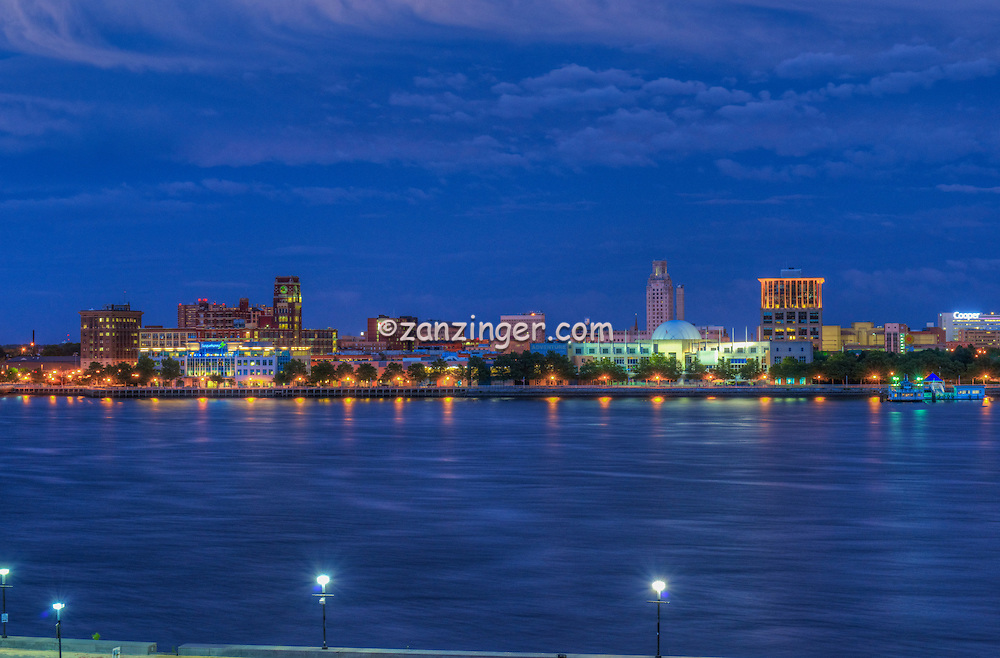 Camden NJ from Philadelphia, PA, Delaware River ...