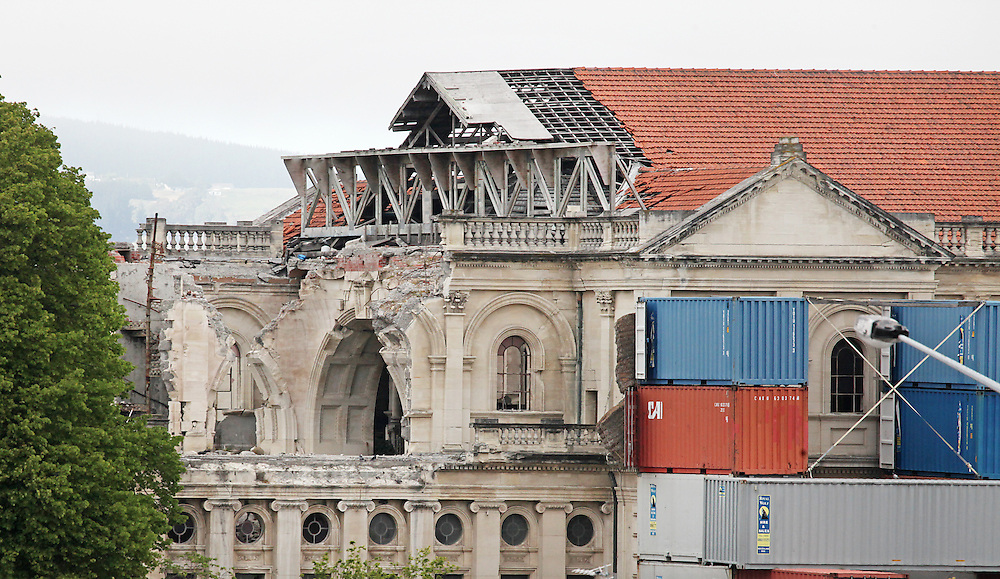 Catholic Cathedral showing earthquake damage which is to be rebuilt,  Christchurch, New Zealand, Tuesday, 10 November, 2015. Credit: SNPA / Pam Carmichael