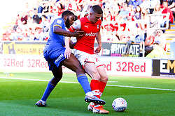 Jake Hastie of Rotherham United holds off Ro-Shaun Williams of Shrewsbury Town - Mandatory by-line: Ryan Crockett/JMP - 21/09/2019 - FOOTBALL - Aesseal New York Stadium - Rotherham, England - Rotherham United v Shrewsbury Town - Sky Bet League One
