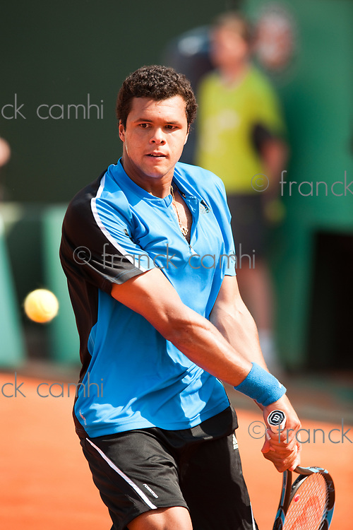 Paris,France Jo Wilfrield Tsonga in grand slam french international tennis open of roland garros 2009 from may 22 to 5 th june