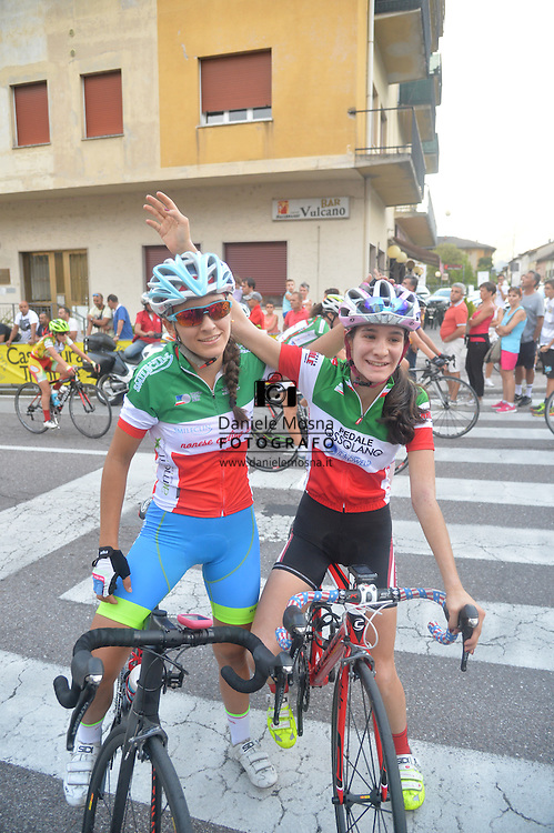 Ciclismo giovanile, 10A Coppa di Sera, Esordienti Donne, Borgo Valsugana 10 settembre 2016 <br /> Gasparrini Eleonore Camilla<br /> Barale Francesca<br /> © foto Daniele Mosna