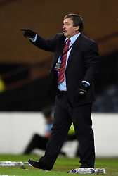 Costa Rica manager Oscar Ramirez during the international friendly match at Hampden Park, Glasgow. RESTRICTIONS: Use subject to restrictions. Editorial use only. Commercial use only with prior written consent of the Scottish FA.