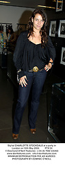 Stylist CHARLOTTE STOCKDALE at a party in London on 10th May 2004.PTX 34