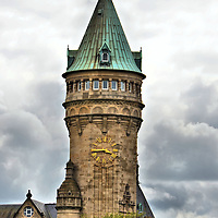 BCEE Clock Tower in Luxembourg City, Luxembourg <br />