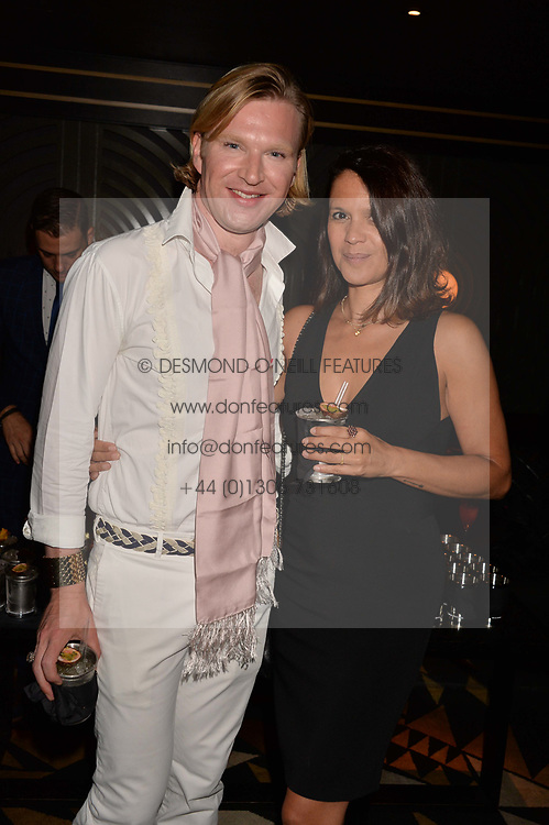 Lisa Moorish and Henry Conway at the Quaglino's Q Legends Summer Launch Party hosted by Henry Conway at Quaglino's, 16 Bury Street, London England. 18 July 2017.