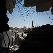 August 11, 2012 - Tarafat, Aleppo, Syria: View of the destroyed Jamal-Jamal school in Tarafat village, near Aleppo. The Syrian Army warplanes have recently bombed residential areas and the only two schools in the village, with 200 kilogram bombs. (Paulo Nunes dos Santos/Polaris)