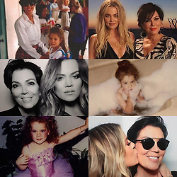"""Kris Jenner releases a photo on Instagram with the following caption: """"Happy birthday my beautiful bunny @khloekardashian!!! You are the kindest soul with the biggest heart and I am forever grateful God blessed me with you... you are so funny and make everyone laugh and continue to bring incredible joy to everyone around you.... you are so smart and are the best daughter, sister, friend, auntie and girlfriend any of us could ever ask for... truly beautiful inside and out! I love you more than you will ever know my bunny... Mommy xo #HappyBirthdayKhloe"""". Photo Credit: Instagram *** No USA Distribution *** For Editorial Use Only *** Not to be Published in Books or Photo Books ***  Please note: Fees charged by the agency are for the agency's services only, and do not, nor are they intended to, convey to the user any ownership of Copyright or License in the material. The agency does not claim any ownership including but not limited to Copyright or License in the attached material. By publishing this material you expressly agree to indemnify and to hold the agency and its directors, shareholders and employees harmless from any loss, claims, damages, demands, expenses (including legal fees), or any causes of action or allegation against the agency arising out of or connected in any way with publication of the material."""