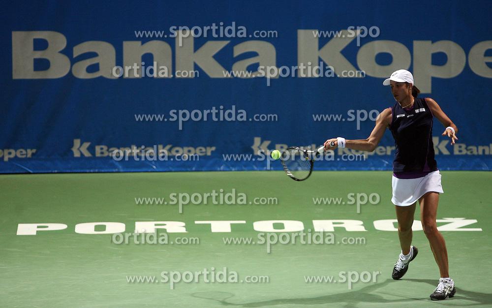 Katarina Srebotnik of Slovenia at 2nd Round of Banka Koper Slovenia Open 2008, on July 22, 2008, Portoroz - Portorose, Slovenia. (Photo by Vid Ponikvar / Sportal Images)...
