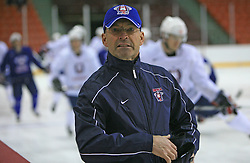 Head Coach of Slovenia Mats Waltin at practice of Slovenian national team at Hockey IIHF WC 2008 in Halifax,  on May 04, 2008 in Metro Center, Halifax, Canada.  (Photo by Vid Ponikvar / Sportal Images)