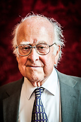 Professor Peter Higgs at the Royal Society of Edinburgh, where His Royal Highness The Duke of Edinburgh presented Royal Medals, on Monday 12th August 2013. Professor Peter Higgs, CH, FRS, FRSE is a British theoretical physicist and emeritus professor at the University of Edinburgh, and has been awarded the Nobel Prize for physics for the discovery of the Higgs boson, the particle dreamt up by Peter Higgs in 1964 that could, theoretically speaking, confer that mass on all the other particles. It culminated in the construction of the £7bn Large Hadron Collider (LHC) at the European Centre for Particle Physics (Cern) in Geneva designed, in part, just to find it.