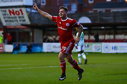 Billy Kee of Accrington Stanley celebrates scoring a goal to make it 1-0- Mandatory by-line: Robbie Stephenson/JMP - 17/04/2018 - FOOTBALL - Wham Stadium - Accrington, England - Accrington Stanley v Yeovil Town - Sky Bet League Two
