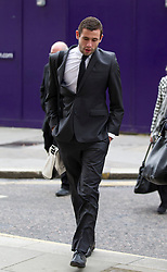 © Licensed to London News Pictures. 06/02/2013. London, UK. Bournemouth football player Steve Cook, 21, is seen arriving at the Old Bailey in London today (06/02/13) where he and three other players, from Brighton and Hove Albion, are facing charges of sexual assault. Photo credit: Matt Cetti-Roberts/LNP