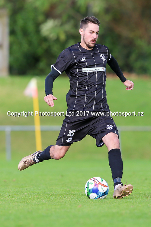 Waitakere City's Rory Turner in action. ISPS Handa Chatham Cup Round 2, Waitakere City FC v Manukau City AFC, Fred Taylor Park, Whenuapai, Auckland, Monday 5th June 2017. Copyright Photo: David Joseph  / www.photosport.nz