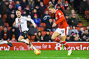 Brad Potts of Barnsley (20) lines up a shot during the EFL Sky Bet League 1 match between Barnsley and Charlton Athletic at Oakwell, Barnsley, England on 29 December 2018.