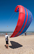 A kitesurfer readies for action. (Photo © Jock Fistick)