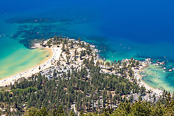 """Sand Harbor, Lake Tahoe 3"" - Photograph of Lake Tahoe shot above Sand Harbor."