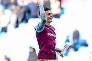 "Aston Villa midfielder Jack Grealish (10) with his ""Skybet"" man of the match trophy during the EFL Sky Bet Championship match between Aston Villa and Birmingham City at Villa Park, Birmingham, England on 11 February 2018. Picture by Dennis Goodwin."