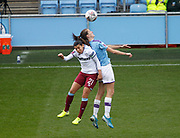 West Ham United Women midfielder Kenza Dali (21) and Manchester City Women's midfielder Caroline Weir in action during the FA Women's Super League match between Manchester City Women and West Ham United Women at the Sport City Academy Stadium, Manchester, United Kingdom on 17 November 2019.