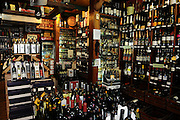 Israel, Tel Aviv, wine shop sells wine, foods and ingredients