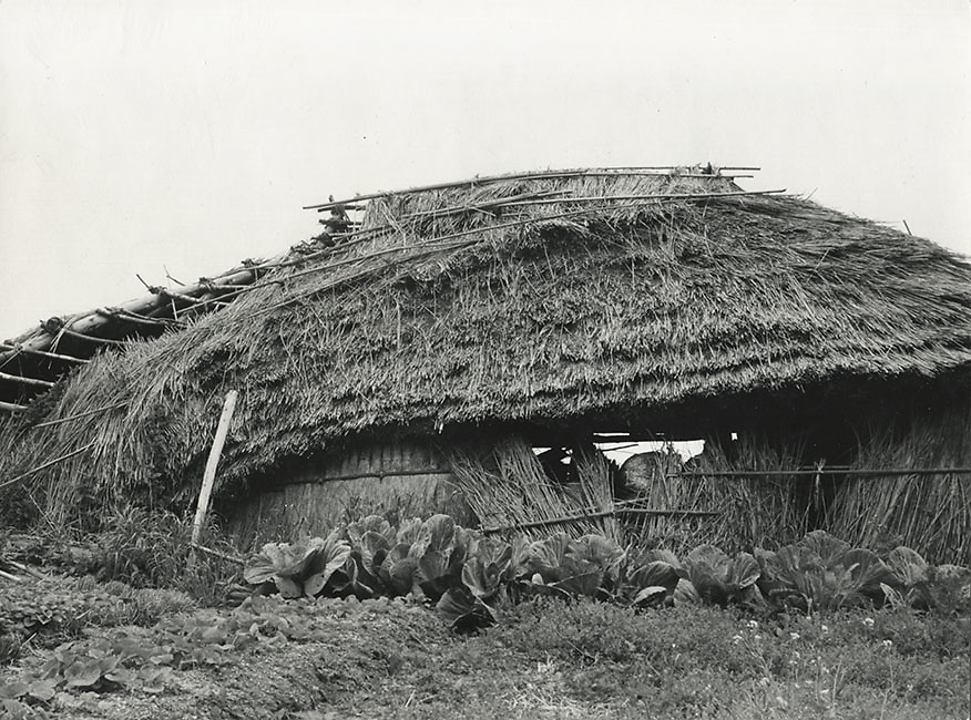 Asano Kiichi<br /> 1914 - 1993<br /> <br /> Beach hut, Okunoto, Ishikawa Prefecture, 1950s. <br /> <br /> Vintage gelatin silver print with Asano&rsquo;s red hanko stamp and caption inscription in the artist&rsquo;s hand on the reverse.<br /> <br /> Size 6 1/2 in. x 4 3/4 in. (165 mm x 120 mm). <br /> <br /> Condition very good.<br /> <br /> Price &yen;80,000<br /> <br /> <br /> <br /> <br /> <br /> <br /> <br /> <br /> <br /> <br /> <br /> <br /> <br /> <br /> <br /> <br /> <br /> <br /> <br /> <br /> <br /> <br /> <br /> <br /> <br /> <br /> .