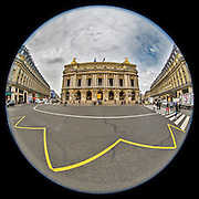 November 21~28, 2014  •  Paris, France  •  new images for 'aRound Paris'  •  looking at the Academie Nationale de Musique (L'Opera) from Place de l'Opera