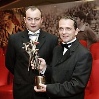 25 November 2005; Clare manager Anthony Daly, with David Fitzgerald, at the 2005 Vodafone GAA All-Star Awards. Citywest Hotel, Dublin. Picture credit: Ray McManus / SPORTSFILE *** NO REPRODUCTION FEE ***