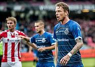 FODBOLD: Mathias Johannsen (FC Helsingør) under kampen i ALKA Superligaen mellem AaB og FC Helsingør den 15. oktober 2017 på Aalborg Stadion. Foto: Claus Birch
