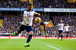 LONDON, ENGLAND - Sunday, March 5, 2017: Tottenham Hotspur's Kyle Walker in action against Everton during the FA Premier League match at White Hart Lane. (Pic by David Rawcliffe/Propaganda)