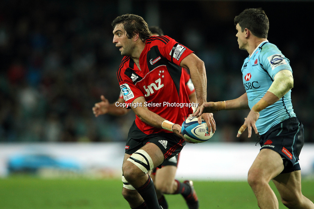 Sam Whitelock - NSW Waratahs v Canterbury Crusaders. Sport Rugby Union Provincial Representative Super Rugby. Allianz Stadium SFS. 29 April 2012. Photo by Paul Seiser/Seiser Photography