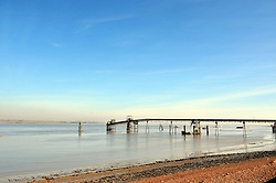 © Licensed to London News Pictures. 16/02/2016<br /> Sunny blue sky weather along the Thames Estuary in Gravesend in Kent today.<br />  (Byline:Grant FalveyLNP)