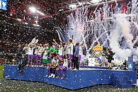 Celebrazione Coppa Real Madrid vince il trofeo, Celebration Cup Real Madrid Wins the trophy<br /> Cardiff 03-06-2017  Cardiff National Stadium Millennium Stadium<br /> Football Champions League Final 2016/2017 <br /> Juventus - Real Madrid<br /> Foto Cesare Purini / Insidefoto
